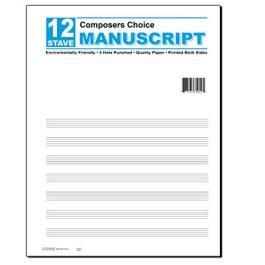 12 Stave Manuscript Pad