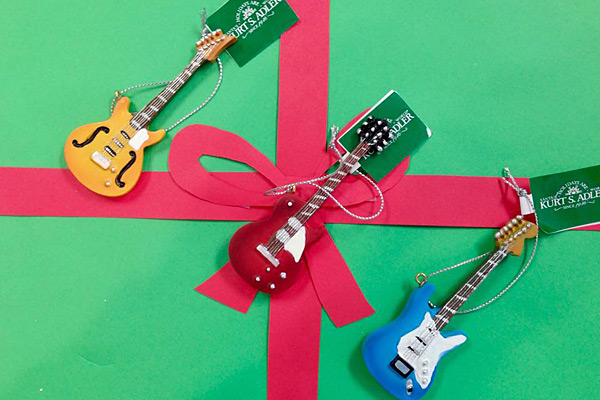 Guitar Christmas Tree Ornaments