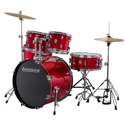 Ludwig Accent Drum Kit Red