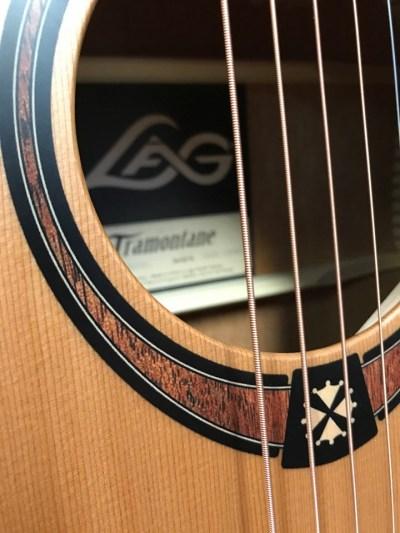 Lag T170D Guitar Rosette Close up
