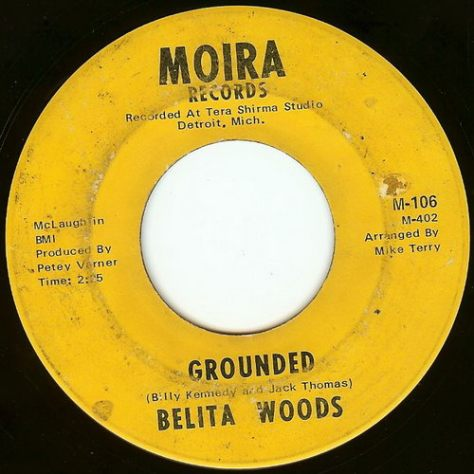 Belita Woods - Grounded A Side Moira Label Scan