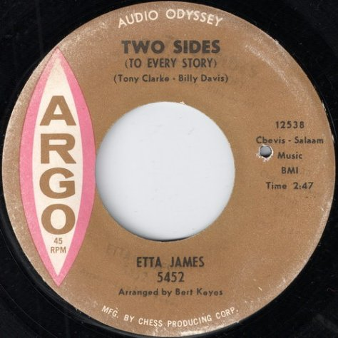Etta James - B - Two Sides (To Every Story) Argo 5452