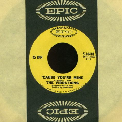 "The Vibrations – Cause You're Mine / Took An Overdose [7""] (Epic) '1967 (Re:Up)"