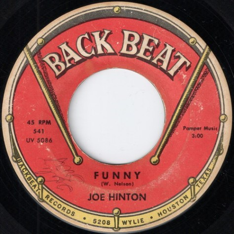 "Joe Hinton – Funny (Back Beat) [7""] '1964 (Re:Up)"
