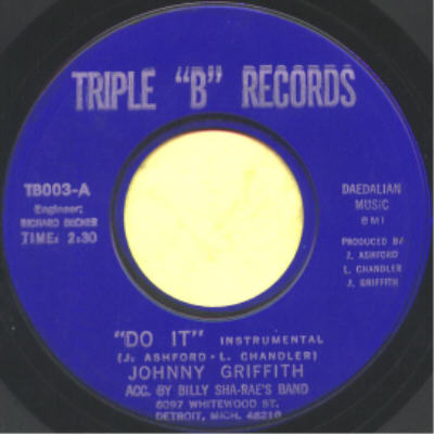 "Johnny Griffith – Do It Instrumental (Triple 'B' Records) [7""] '1970"