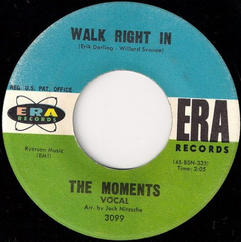 The Moments - Walk Right In Label Scan Side A