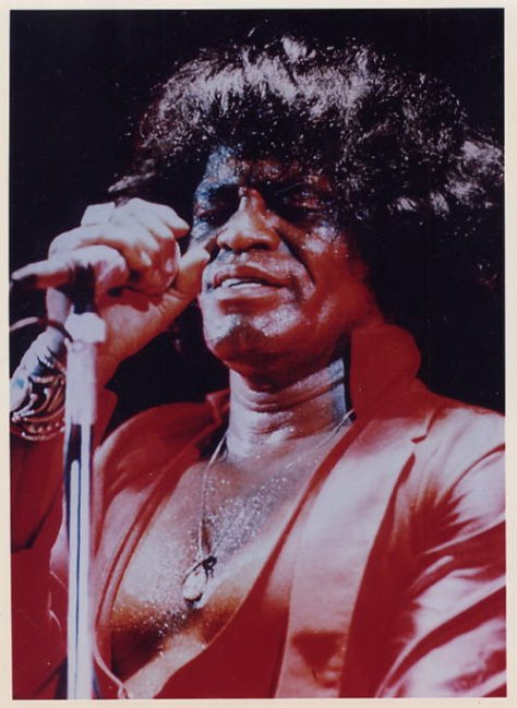 James Brown in Concert Color Photo