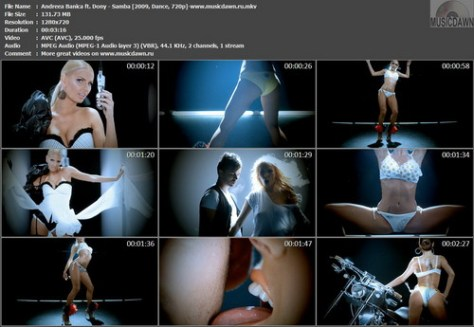 Andreea Banica ft. Dony - Samba (2009, Dance, 720p)