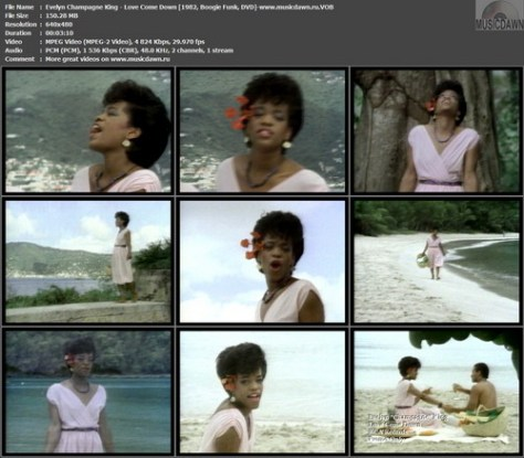 Evelyn Champagne King - Love Come Down (1982, Boogie Funk, DVD)