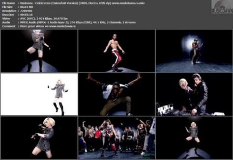Madonna – Celebration (3 versions) [2009, DVDrip] Music Videos (Re:Up)