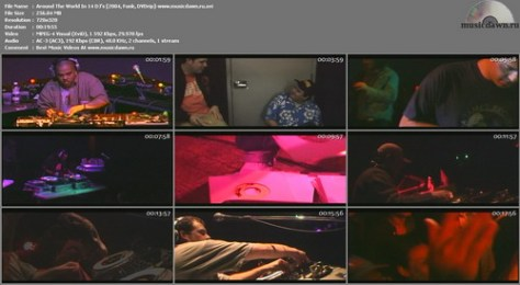 Around The World In 14 DJ's Video (2004, Funk, DVDrip)