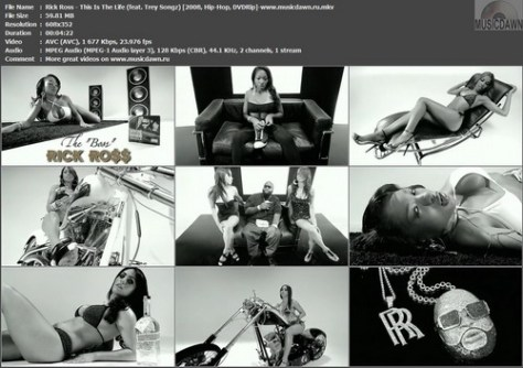 Rick Ross feat. Trey Songz - This Is The Life (2008, Hip-Hop, Rap, DVDRip)