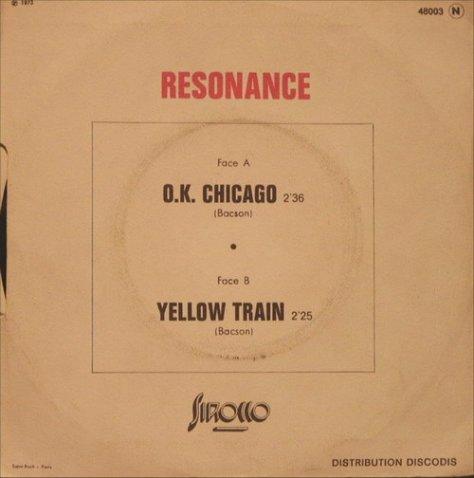 Resonance - O.K. Chicago / Yellow Train Back Art