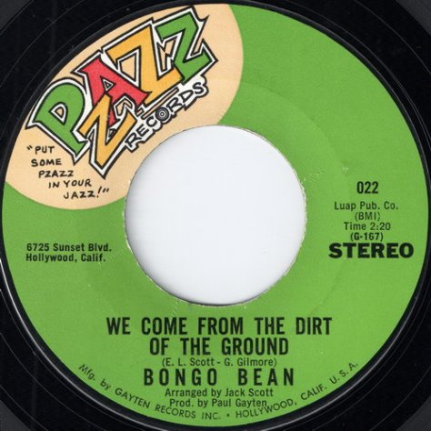 Bongo Bean - We Come From The Dirt Of The Ground (Pzazz)