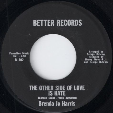 Brenda Jo Harris - The Other Side Of Love Is Hate (Better # B 102)