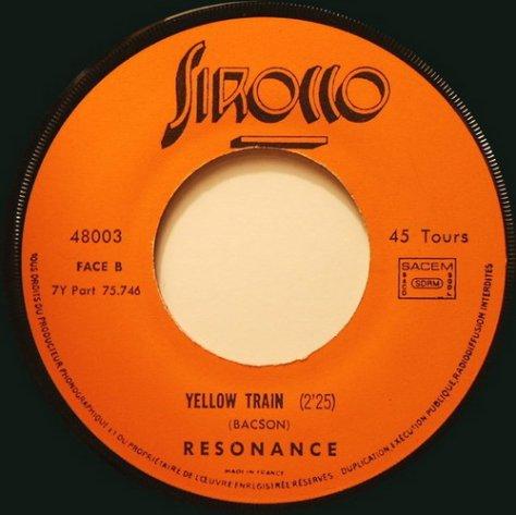 Resonance - Yellow Train Side B Label Scan