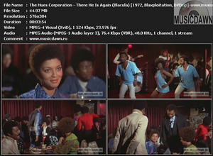 The Hues Corporation - There He Is Again (from Blacula) {1972, Blaxploitation, DVDrip}