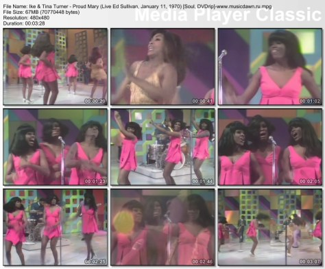 Ike & Tina Turner - 01 - Proud Mary (Live Ed Sullivan, January 11, 1970) (Soul, DVDrip)
