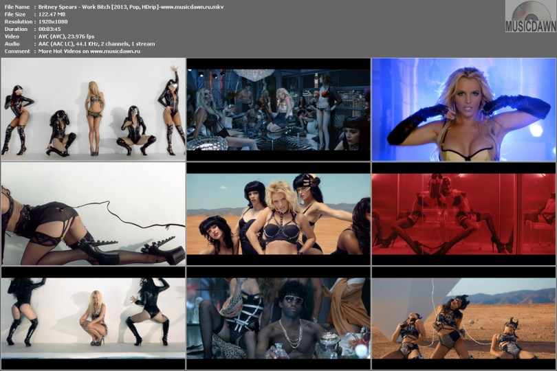 Britney Spears - Work Bitch [2013, Pop, HD 1080p]
