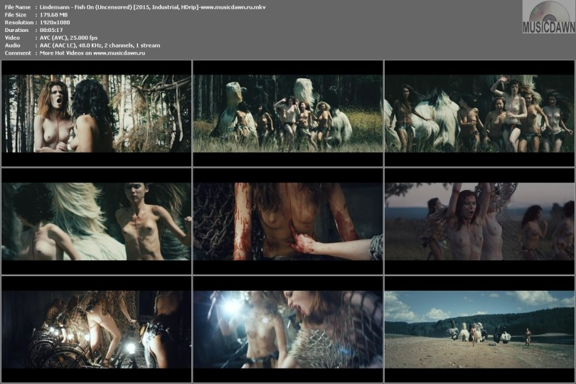 Клип Lindemann - Fish On (Uncensored / без цензуры) HD 1080p