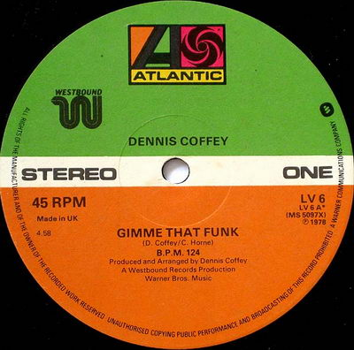 Dennis Coffey - Gimme That Funk 12'' (Label Scan)
