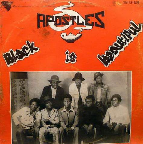 The Apostles - Black Is Beautiful LP Front Cover Art