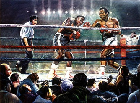 Thriller in Manila - Lithograph Muhammad Ali and Joe Frazier