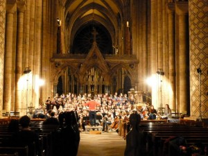 Durham University Choral Society in rehearsal