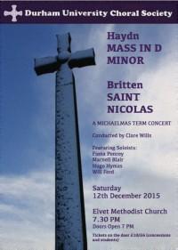 DUCC Haydn 'Nelson' & Britten St Nicolas