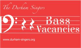 Durham Singers: bass vacancies