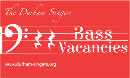 Durham Singers: bass vacancies
