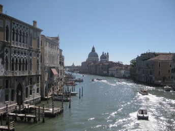 The grand canal in Venice, looking towards Santa maria della Salute