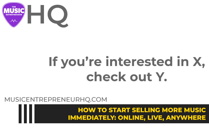 165 – How to Start Selling More Music Immediately: Online, Live, Anywhere