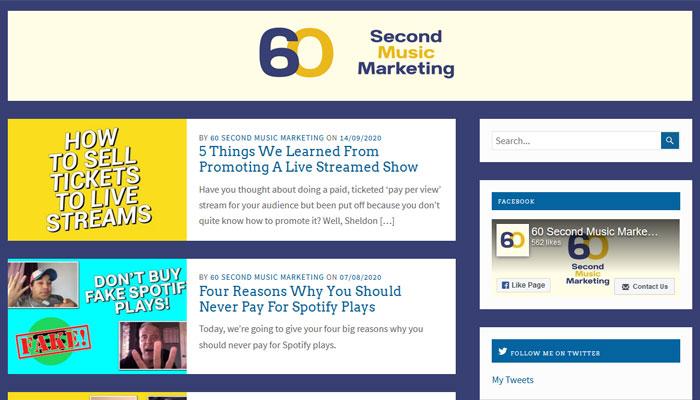 60 Second Music Marketing