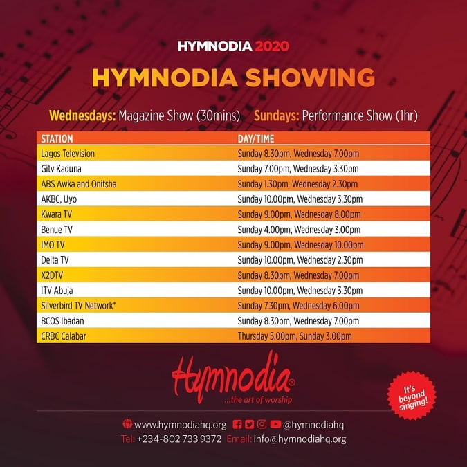 Hymnodia Season 2 tv schedule