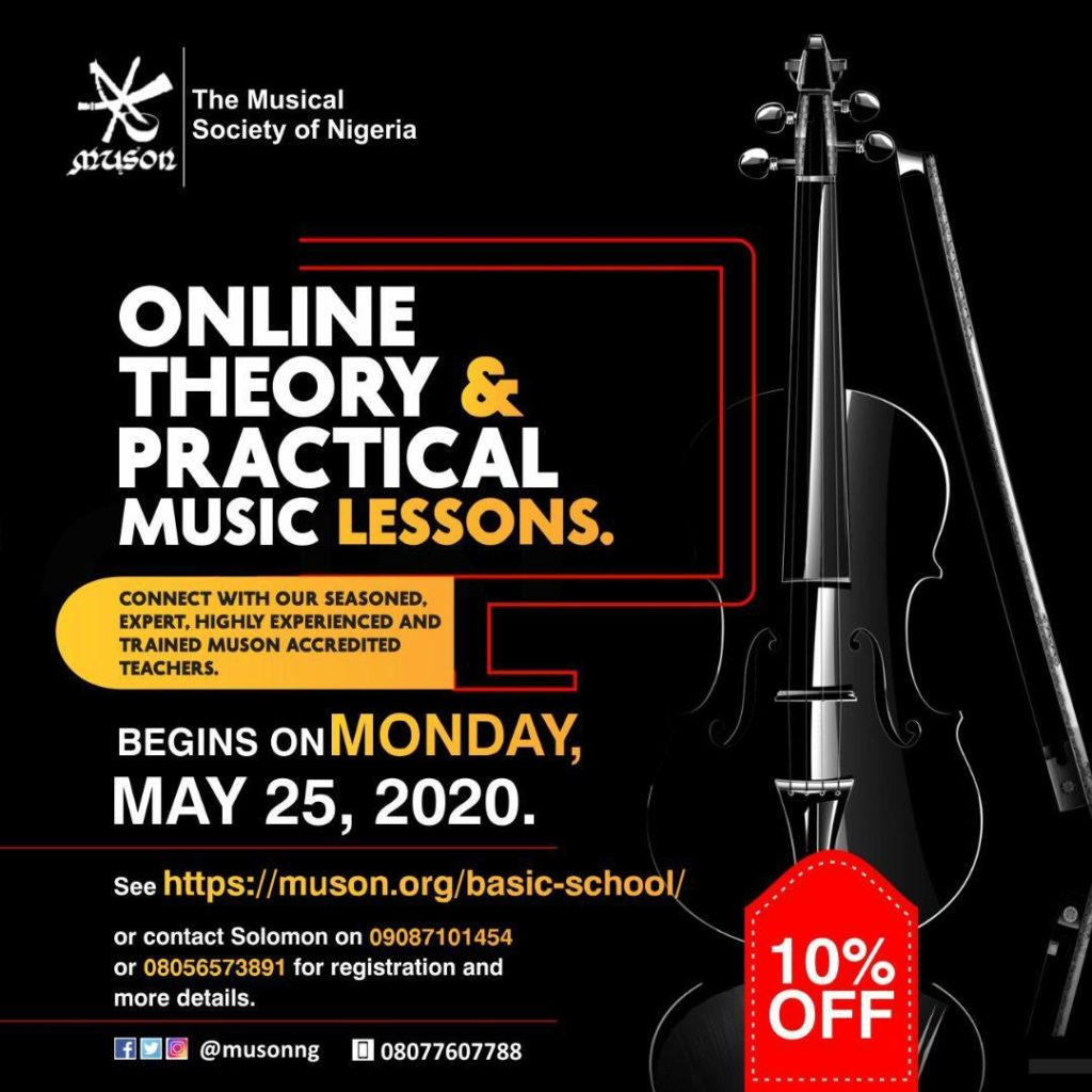 MUSON online theory and practical lesson