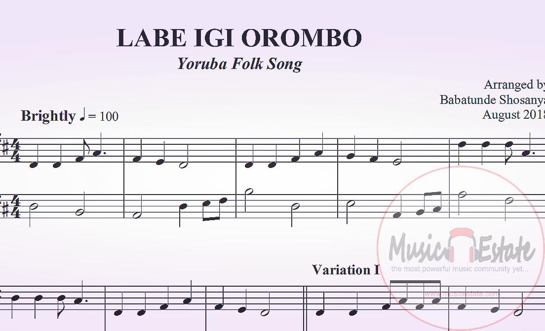 labe igi orombo music sheet