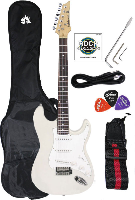 Begginer Strat Package White