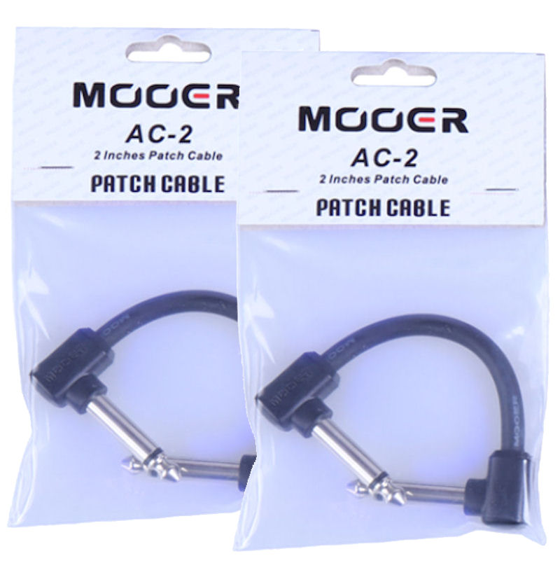 Mooer AC-2 Guitar Effect Patch Cables X2