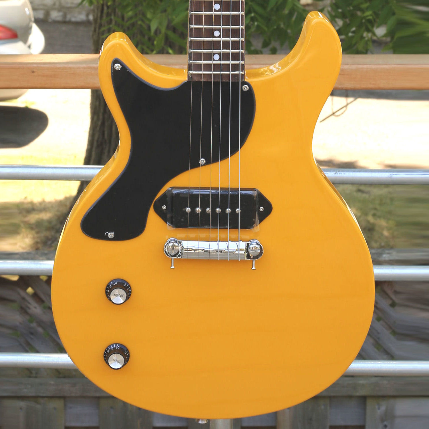 Tokai Love Rock Jr Lp 56 Dc Yellow Left Handed Music Express Canada Les Paul Junior Wiring Harness
