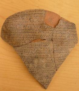 Potsherd with mass text