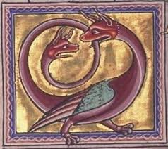 Dragon with extra head on tail