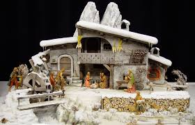 Crib scene in the snow