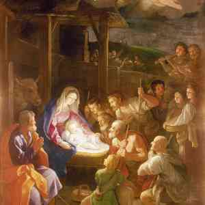 Light-radiating baby Nativity