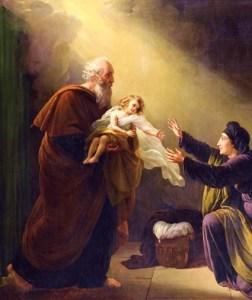 Elijah, widow and son