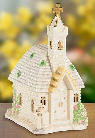 St Patricks Blessing Musical Porcelain Church By Lenox