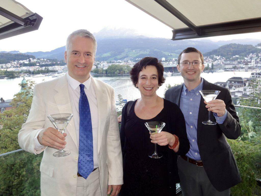 Scott Bell, Lorien Hart, and Jeremy Black in Lucerne
