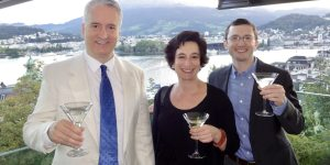 Scott Bell, Lorien Hart, and Jeremy Black in Lucerne