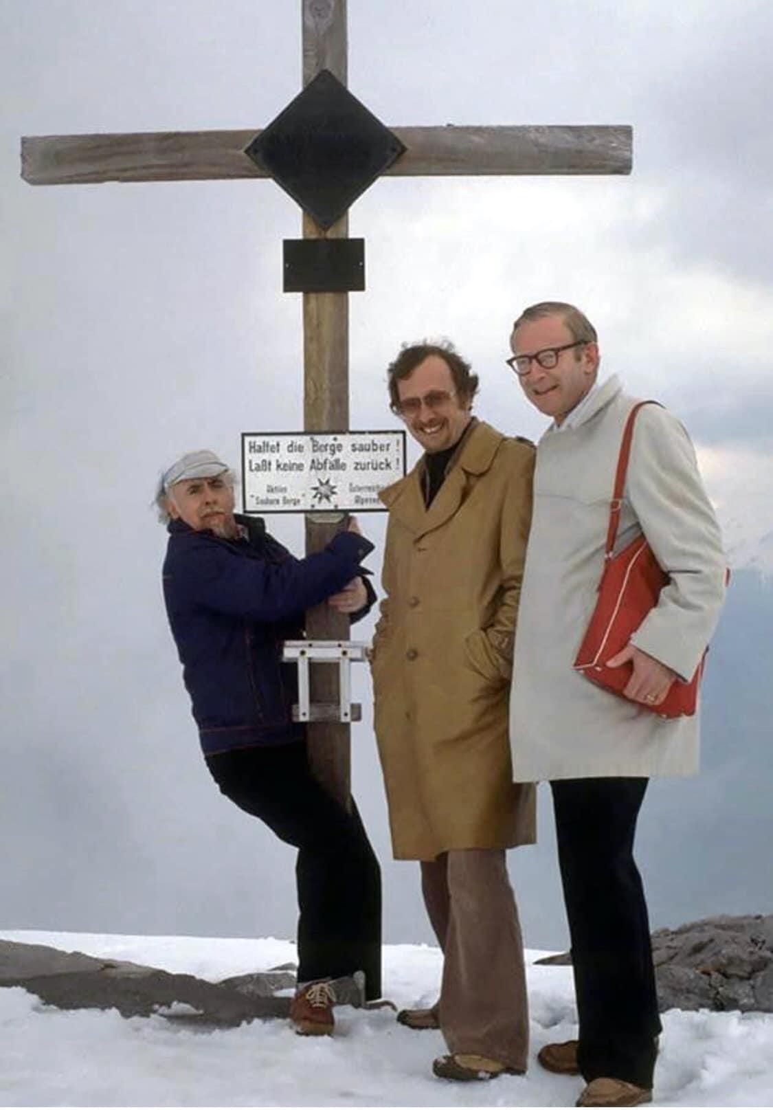Irvin Kauffman, Charles Hardwick and Ray Marsh in Austria, 1978