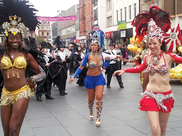 Dancers at the launch of the City Festival
